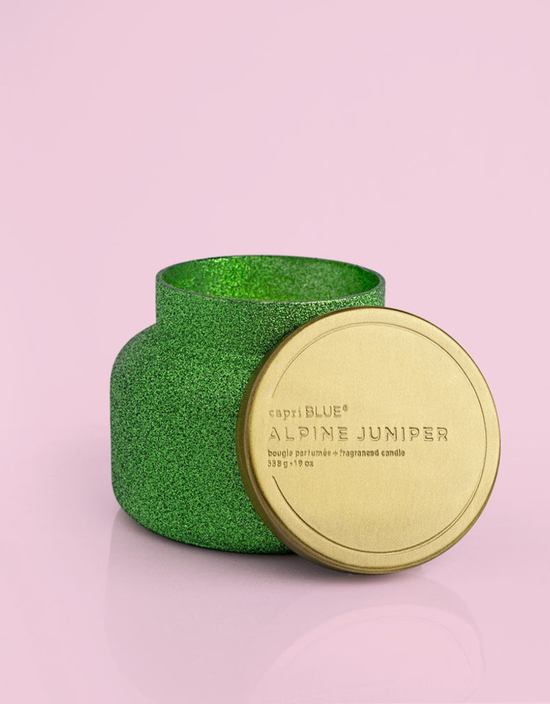 Capri Blue Alpine Juniper Glam Signature Jar, 19 oz