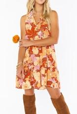 Show Me Your Mumu Groovy Collared Mini Dress