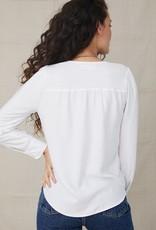 Bella Dahl Long Sleeve V-Neck Smocked Top