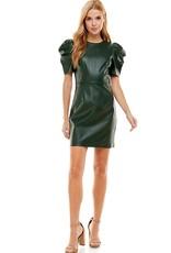 LABEL Puff Sleeve Dress - Hunter Green