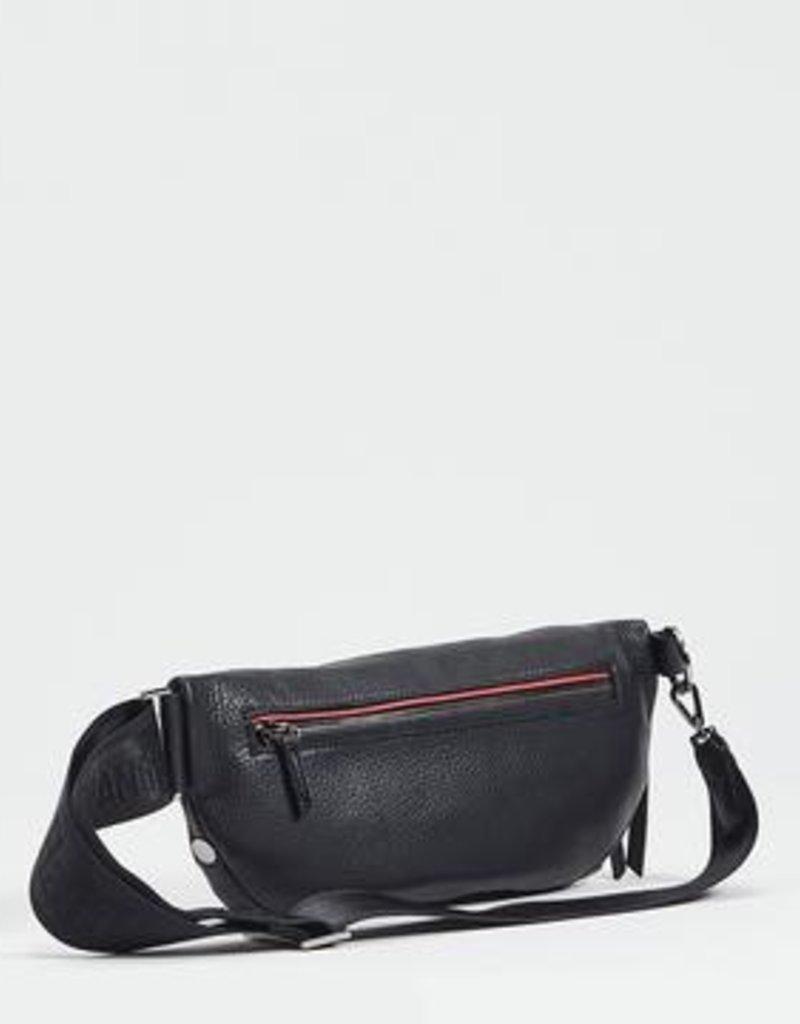 Hammitt Charles Black Leather Belt Bag