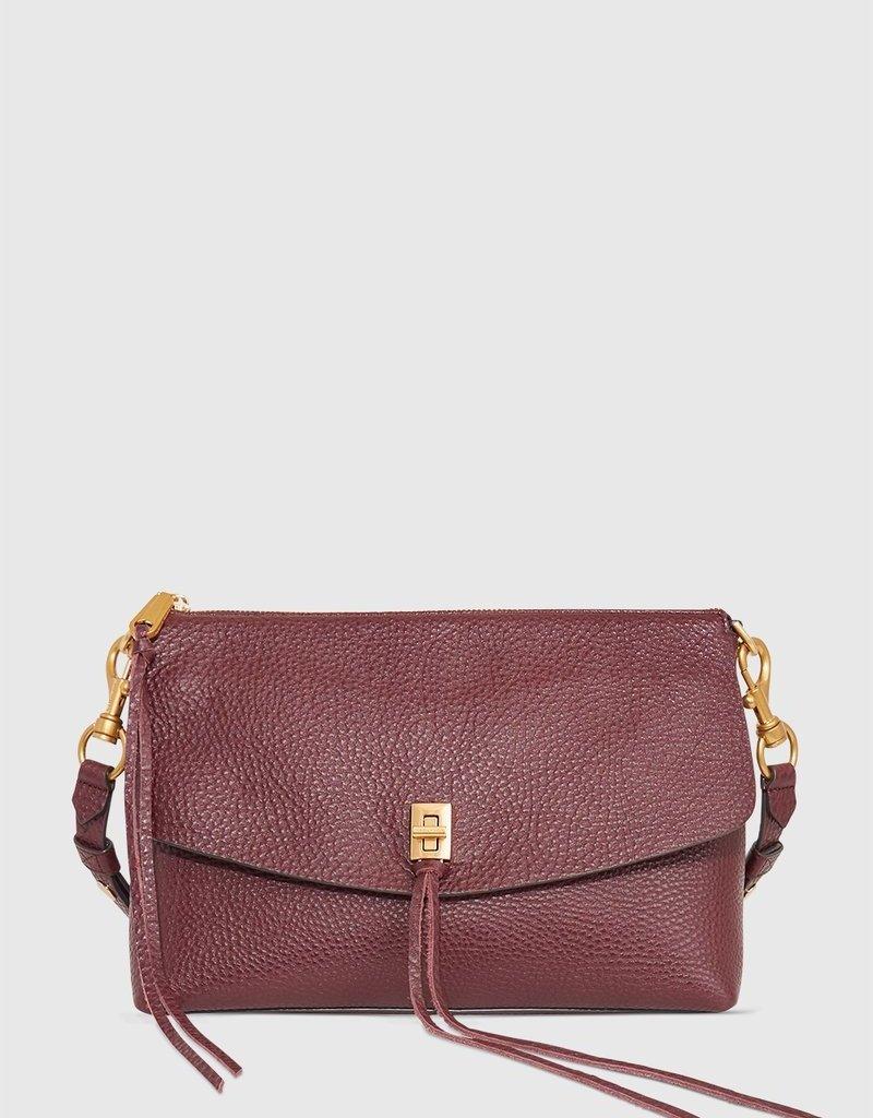 Rebecca Minkoff Darren Top Zip Shoulder Bag - Malbec