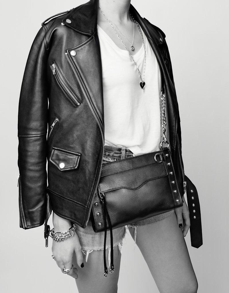 Rebecca Minkoff M.A.B. Crossbody With Studs - Black w/ Silver