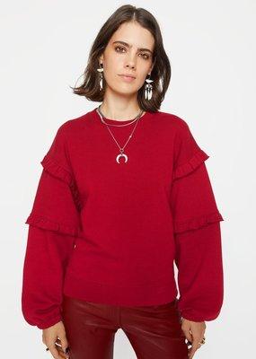 Rebecca Minkoff Evelyn Sweatshirt - Dark Red