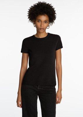 525 Cashmere Short Sleeve Pullover - Black