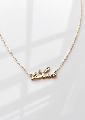 Thatch Taken Script Necklace