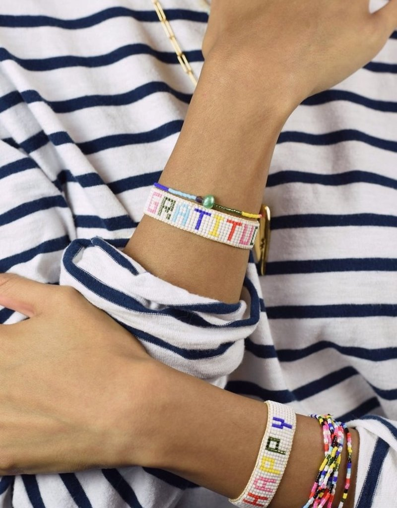 HART Rainbow Happy Beaded Bracelet