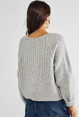 Free People Carter Pullover - Heather Grey