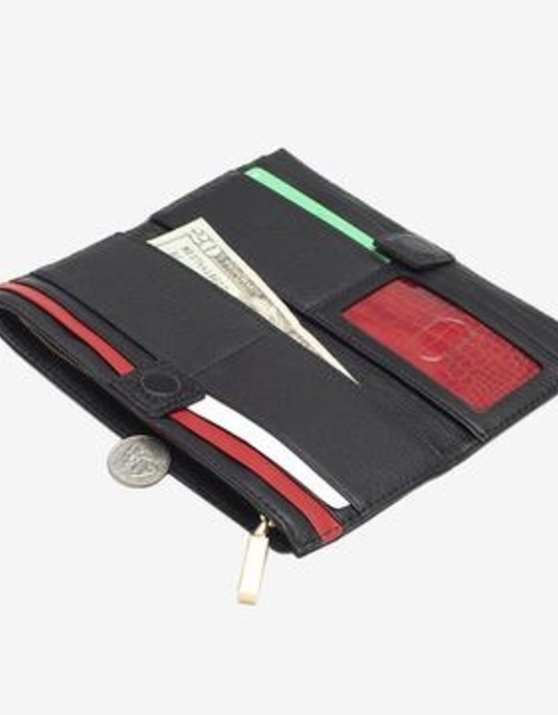 Hammitt 110 North Leather Wallet - Black/Brushed Gold