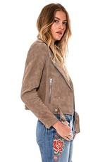 Blank NYC Sand Stoner Suede Moto Jacket