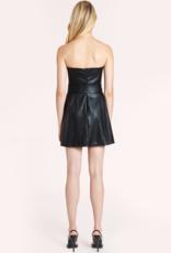 Amanda Uprichard Fae Dress - Black Leather