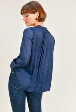 RESET by Jane Lindsey Blouse - Navy