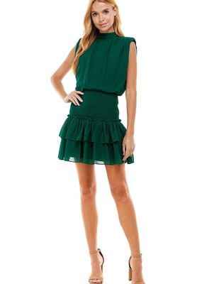 LABEL Layla Dress - Emerald