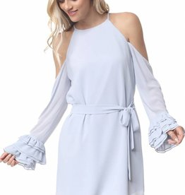 LABEL Emory Triple Ruffle Dress