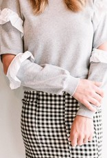 English Factory Ruffled Sweatshirt