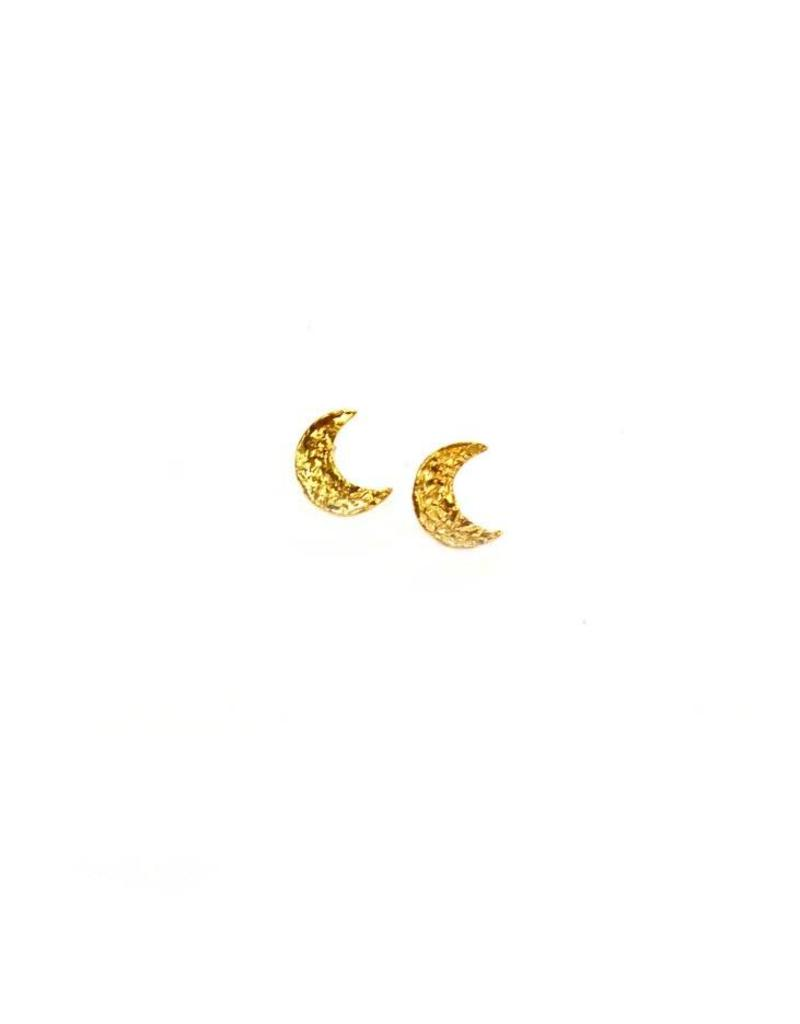 Betsy Pittard Hammered Moon Studs