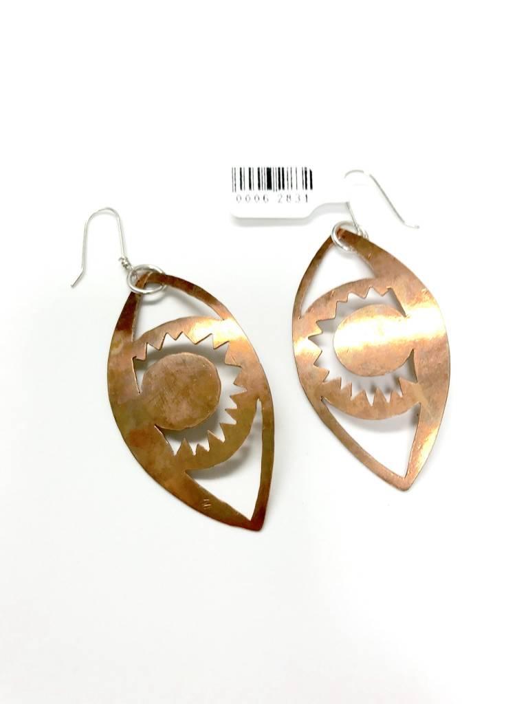 Copper Eye Earrings
