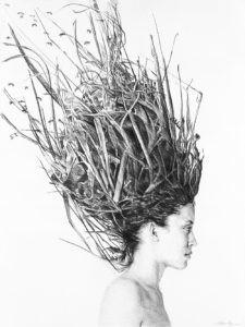 'Shandra with Bees' Acrylic Print