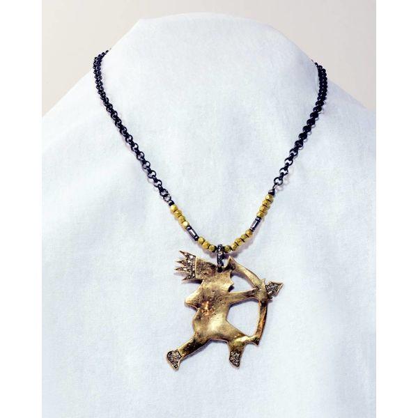 Bronze Indian w/ Arrow Necklace