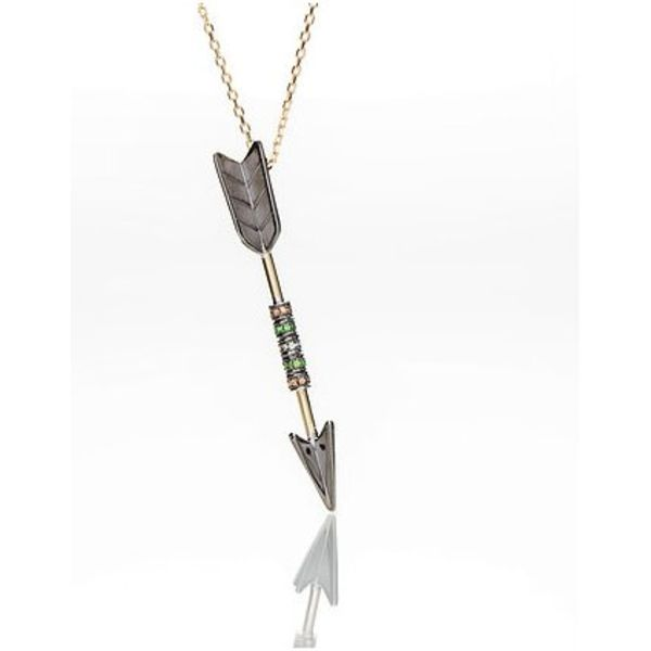 Arrow Necklace with Precious Stones