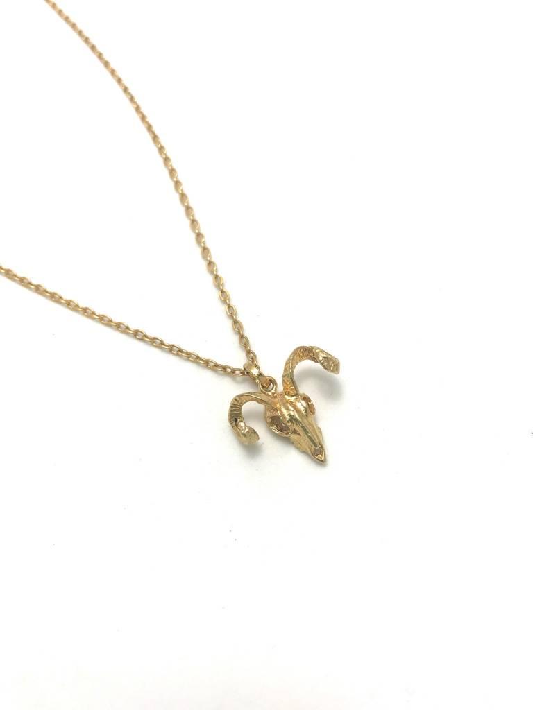 Ram Skull Necklace