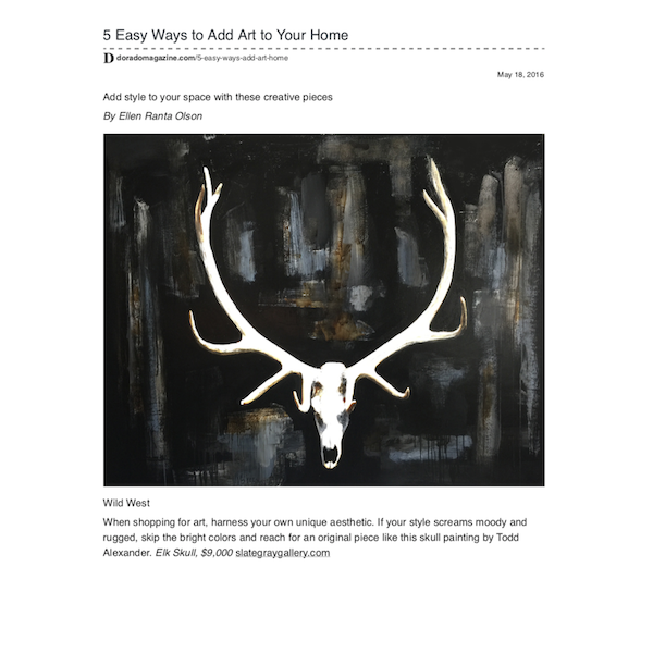 Dorado Magazine | 5 Easy Ways to Add Art to Your Home | May 2016