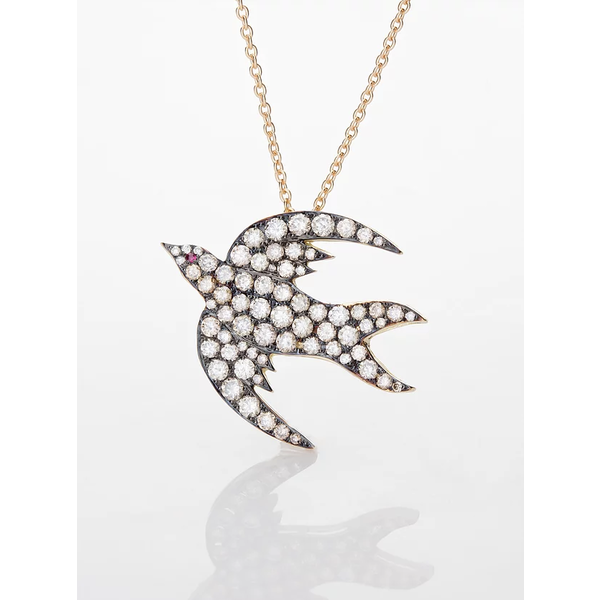 AP Diamond Bird Necklace