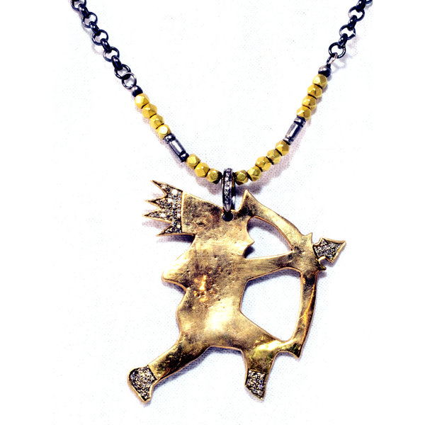 Bronze Indian w/ Arrow Necklace