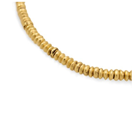 Chunky Addis Donut Beads - 14k