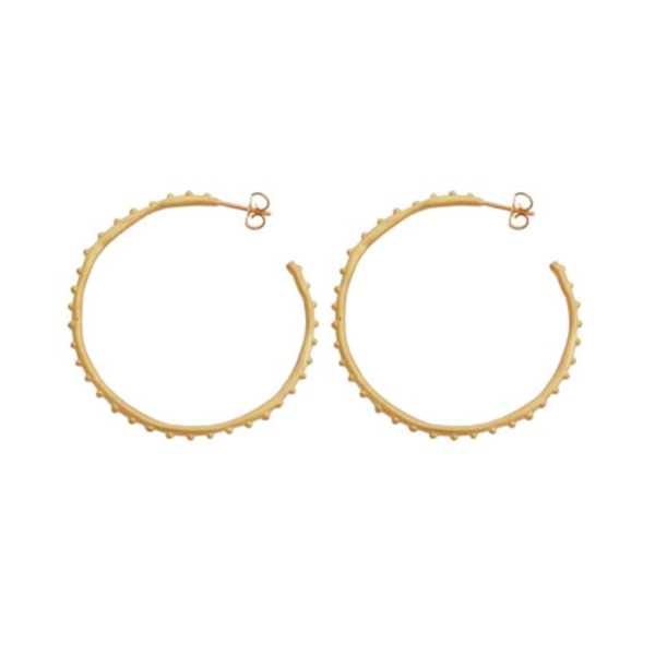 Large Studded Hoop Earrings