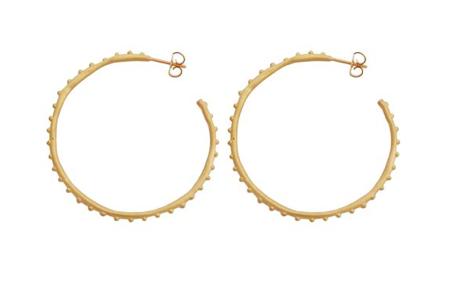 Large Studded Hoop Earrings