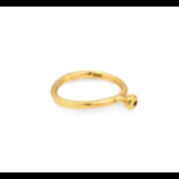 Dot Ring with Black Diamond