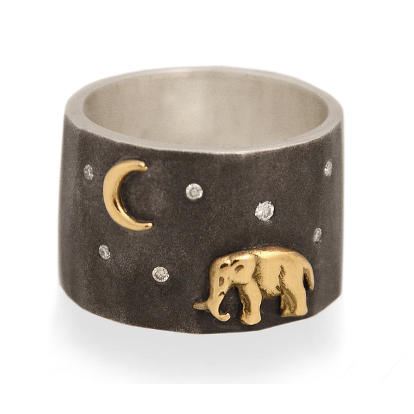 Silver Tsavo Nights Ring