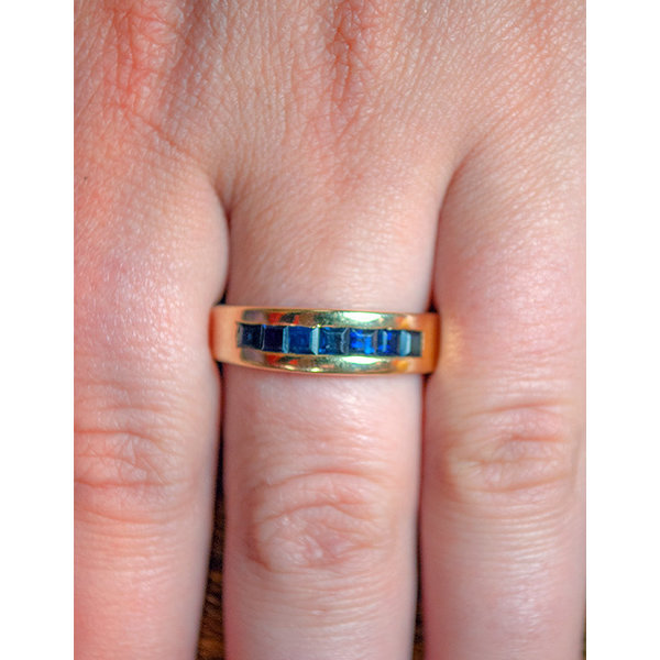 Vintage Channel Sapphire Ring
