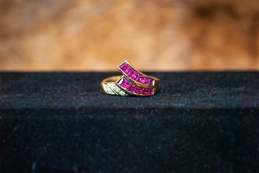 Vintage Ruby Wave Ring