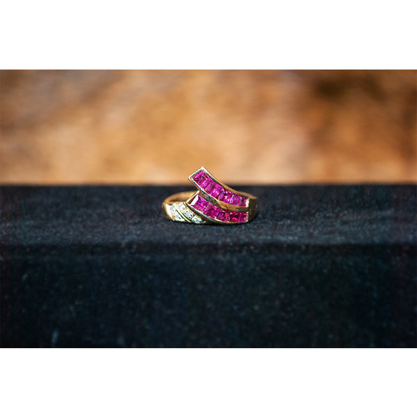 Vintage Ruby Wave Ring