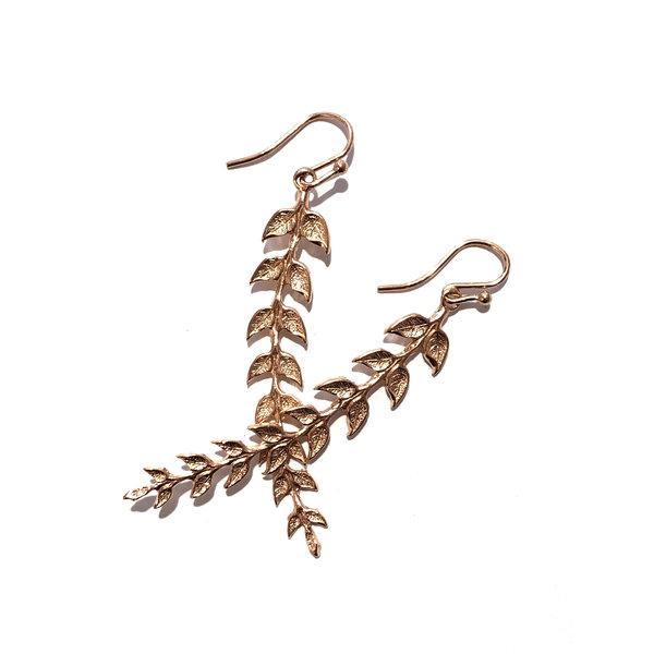 KT Rose Gold Gilded Earrings