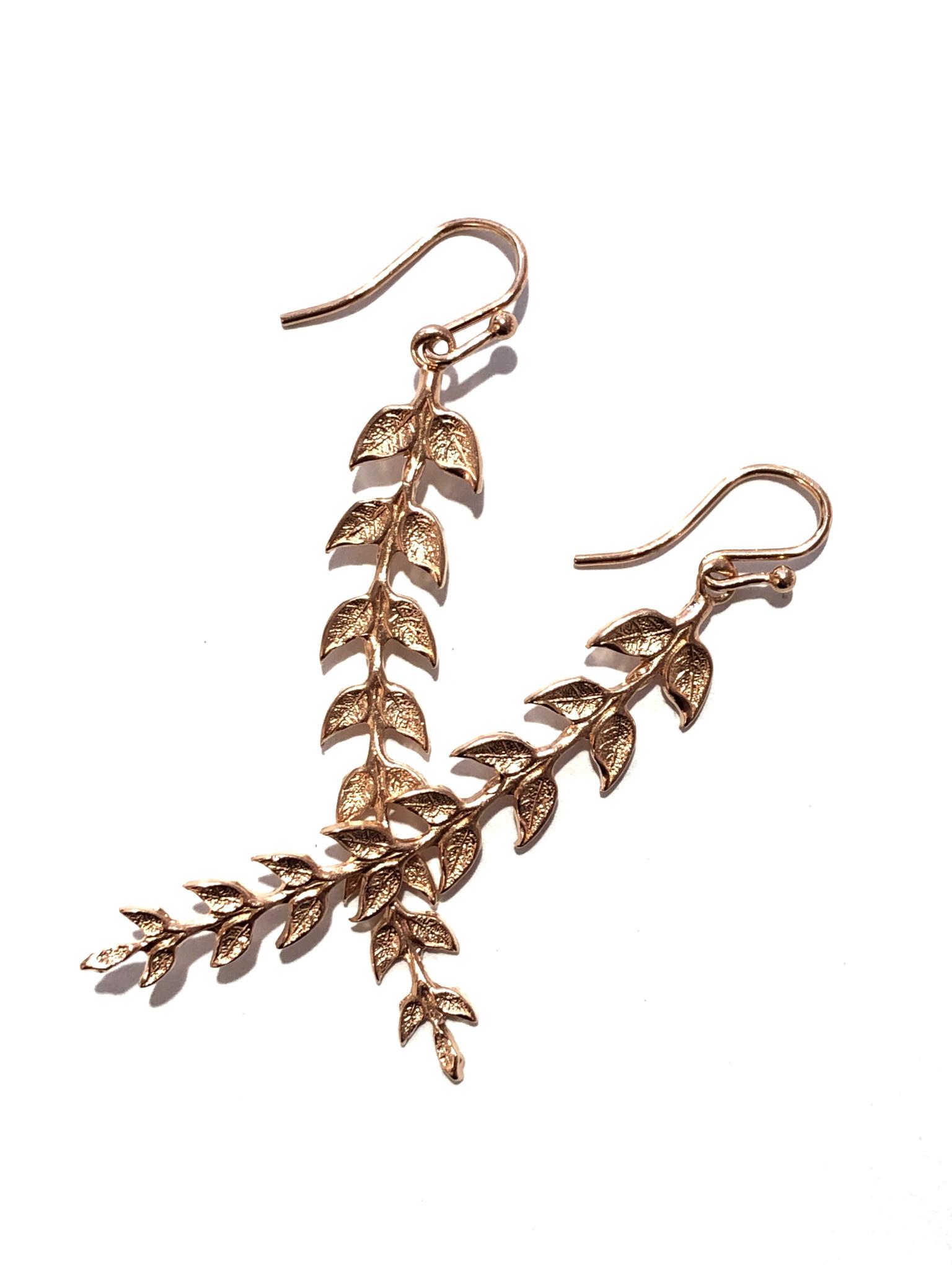 Rose Gold Gilded Earrings