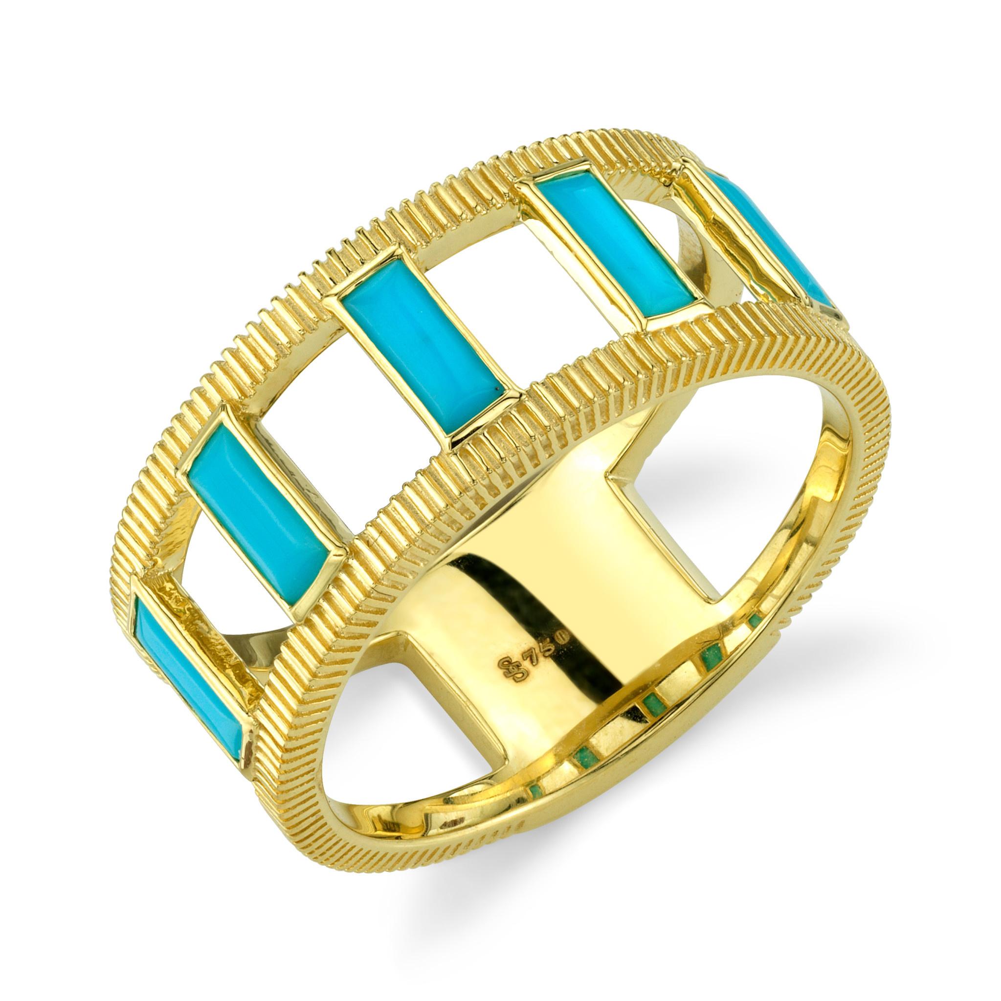 Emerald Cut Turq Ring