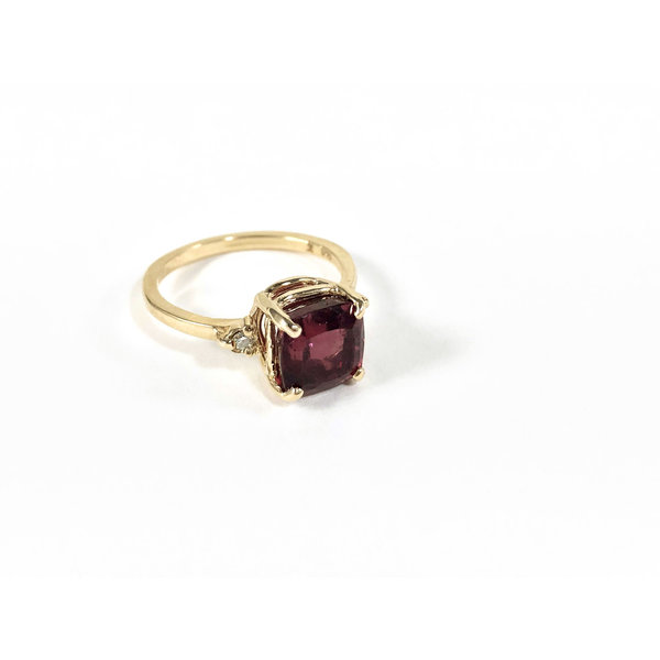 Vintage Watermelon Tourmaline Ring