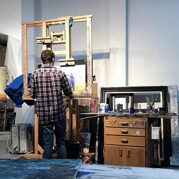 Andrew Brown in the Studio