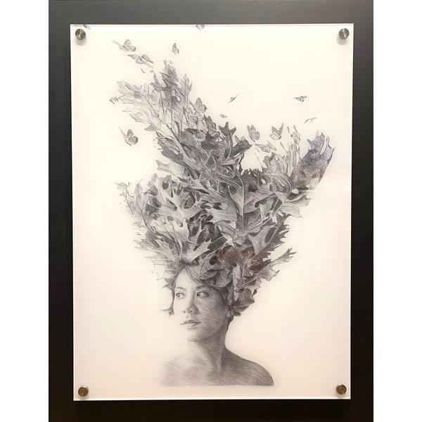 Gina 36x26.75 Edition #1 White
