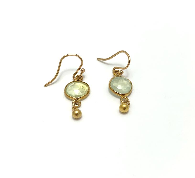 Gemstone Ear, gold plate