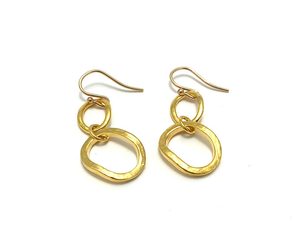 Gold Ear Chunky Link, gold plate