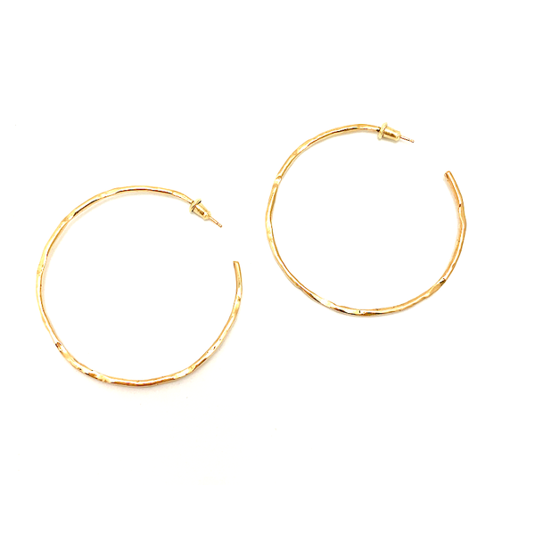 18K Red Gold Hoop Earrings