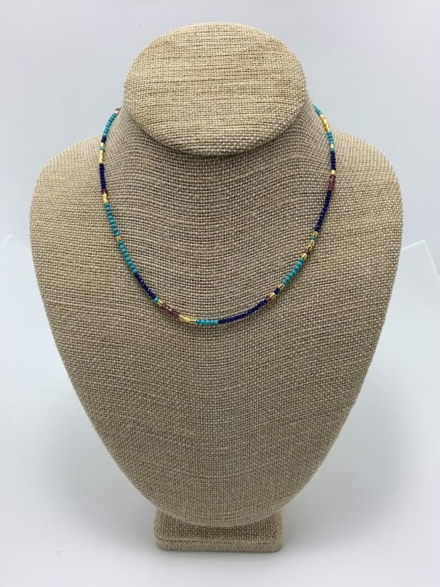 New Mixi, Turquoise Mix, Gold plate