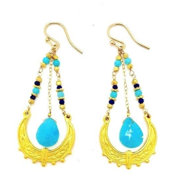 Gold Moroccan Swing Turquoise