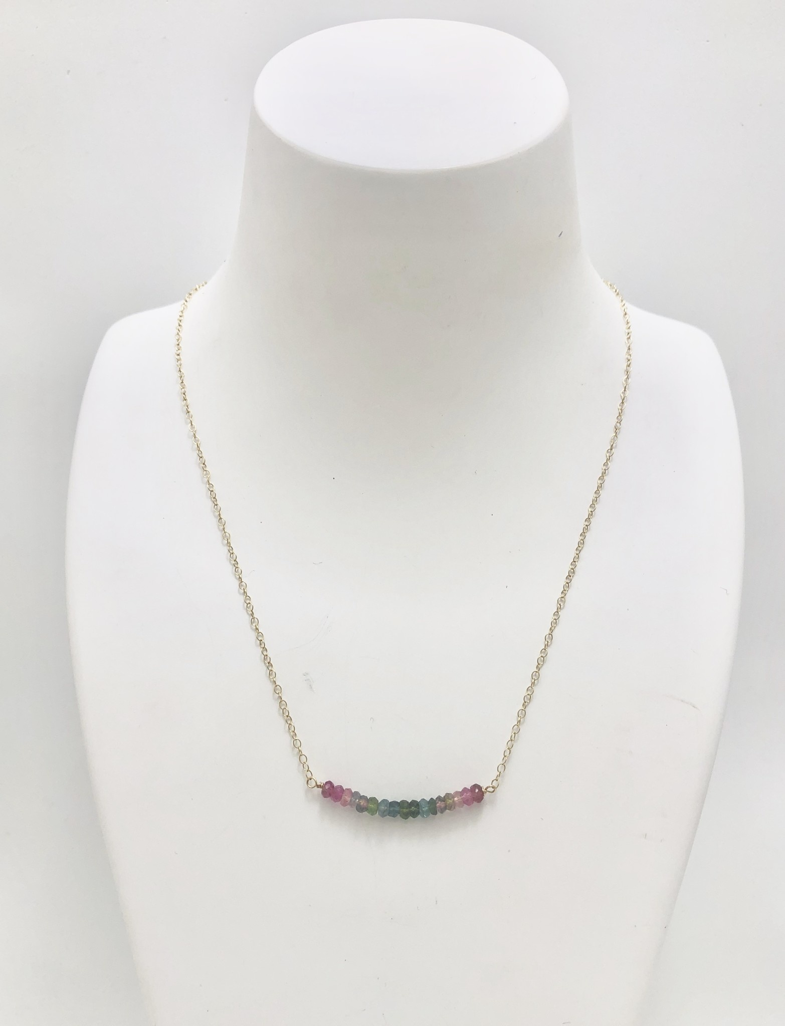 Bar of Tourmaline Necklace