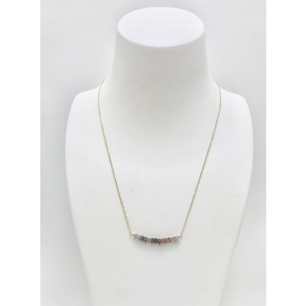 Bar of Spinel Necklace