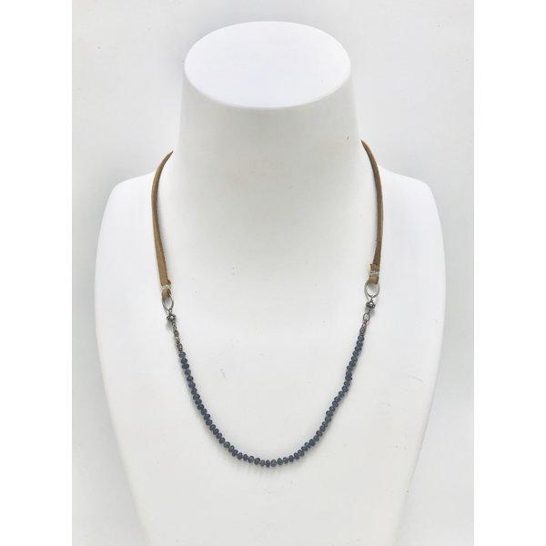 Micro Blue Sapphire Necklace